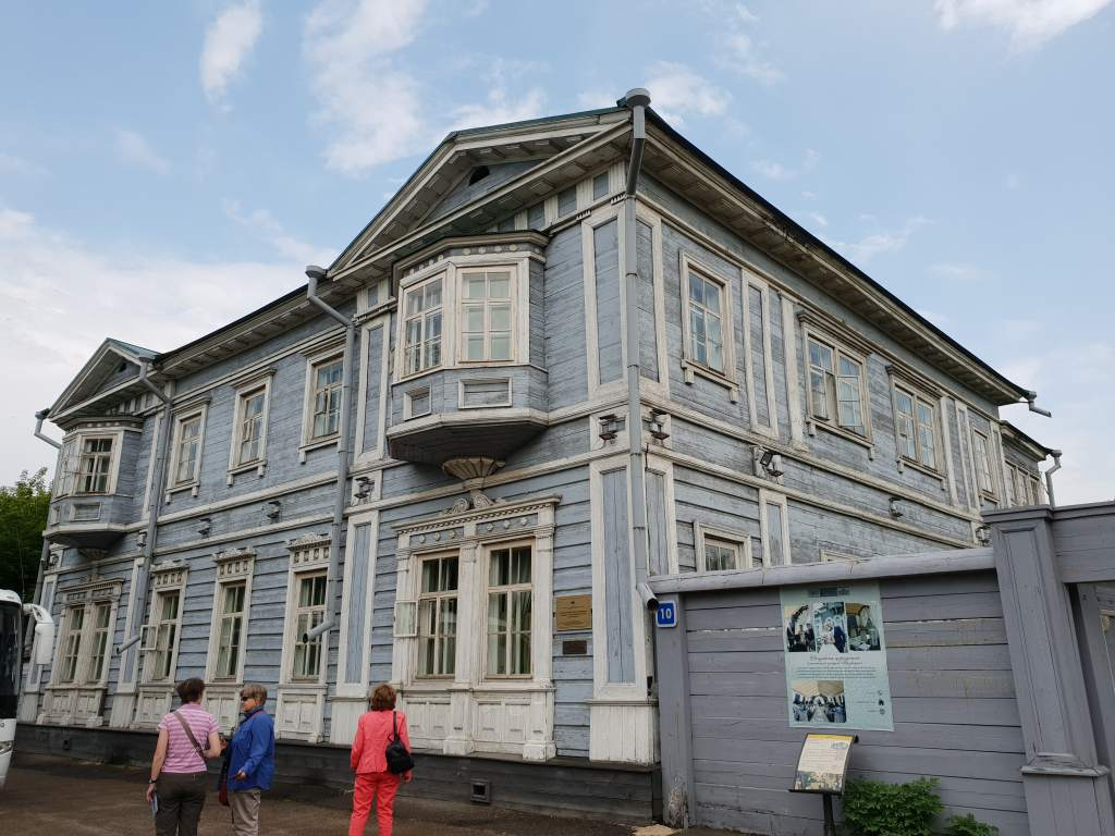 das dekabristenmuseum im sibirischen Irkutsk unweit des Baikalsees
