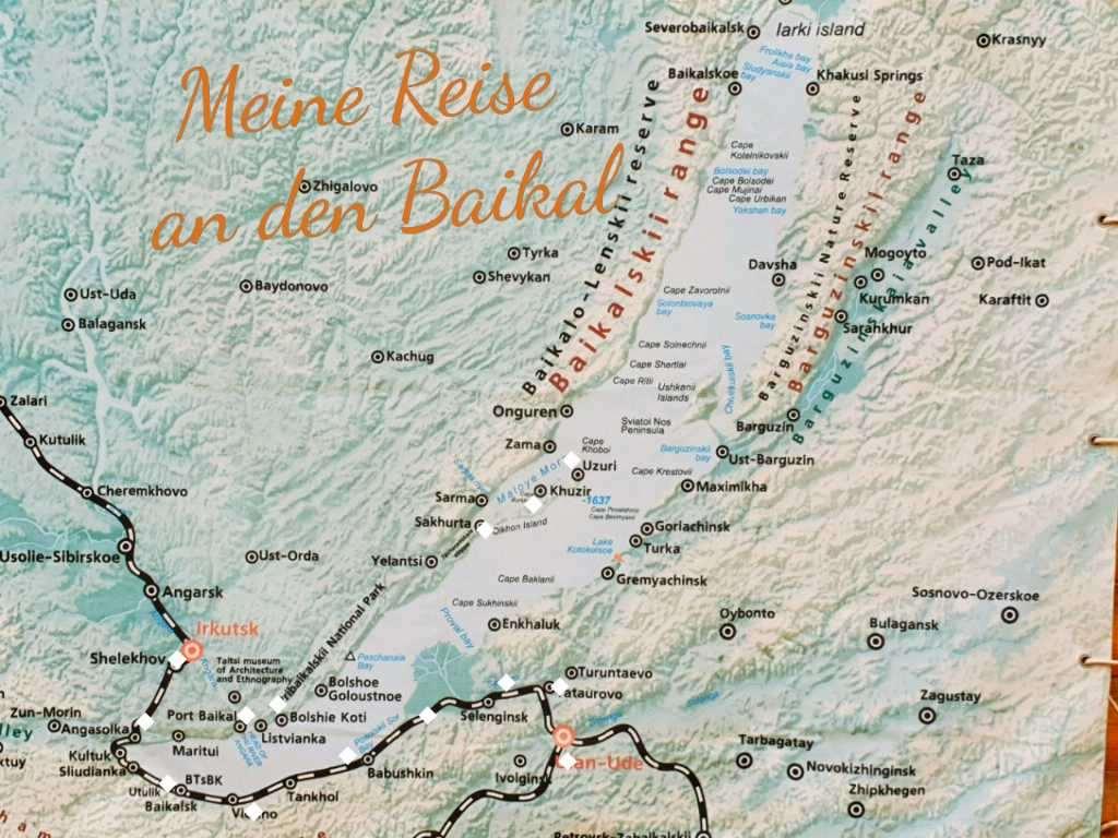 Karte von der Baikalregion rund um Irkutsk