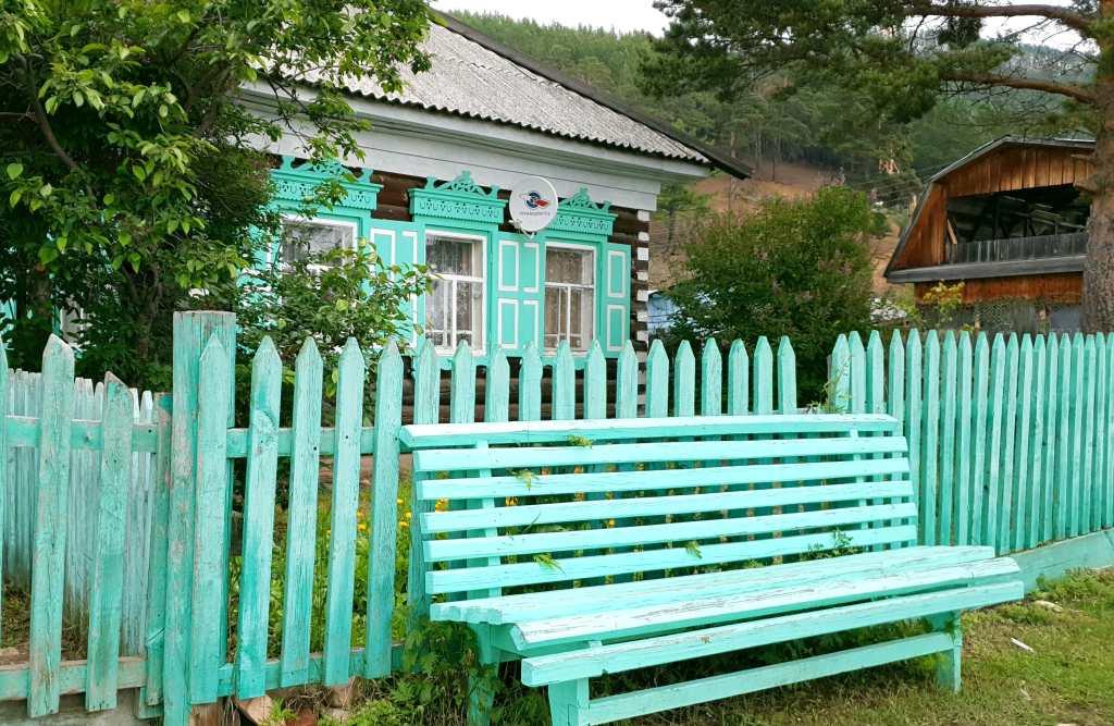 Holzhaus in Bolschije Koty im Pribaikalskij Nationalpark, unweit von Listwjanka am Baikalsee.