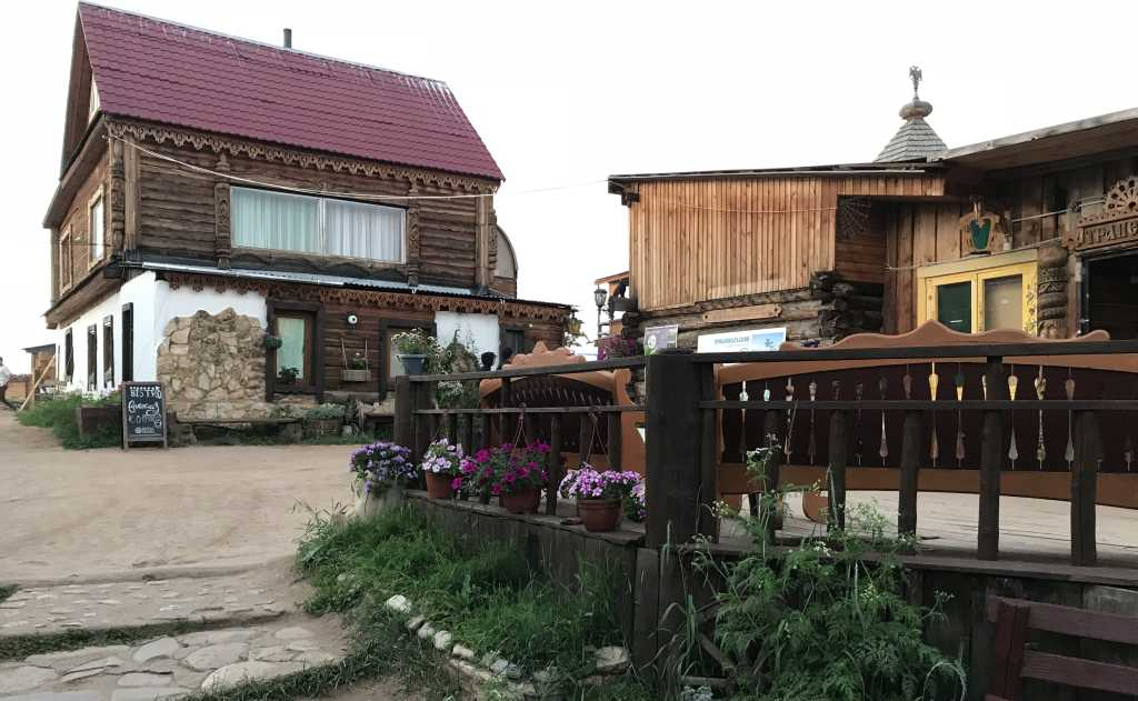 Pension in Khuzhir, dem hauptort auf der Insel Olchon im sibirischen Baikalsee.