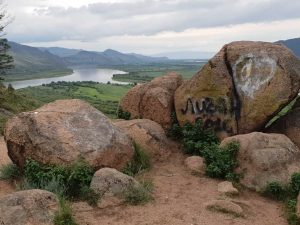 Bild vom Selenga-Tal auf der Transsib-Strecke Richtung Mongolei.