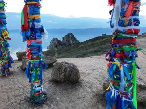 Wunschbänder - gesehen auf der Insel Olchon im sibirischen Baikalsee