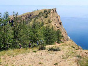 Kap Choboi, die Nordspitze der Insel Olchon im sibirischen Baikalsee, Russland.