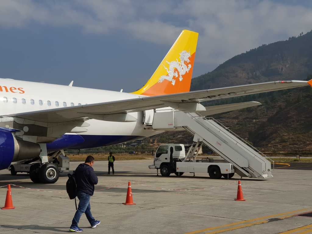 Flugzeug der Fluggesellschaft Drukair