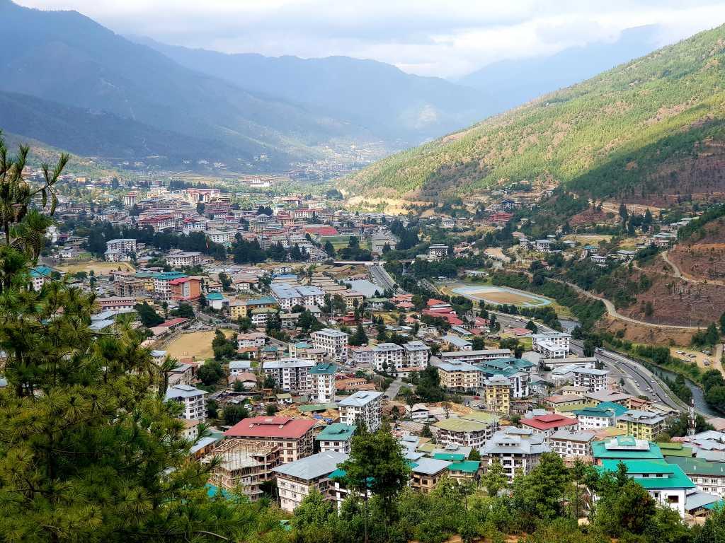 Bhutans Hauptstadt Thimphu