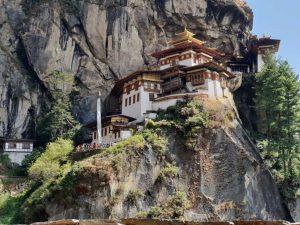 Tigernest-Kloster oberhalb des Part-Tales in Bhutan