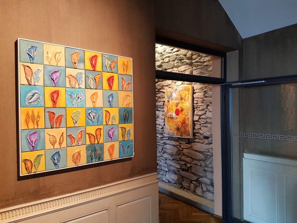 Moderne Kunst im Hotel Lenkerhof in Lenk im Simmental, Schweiz