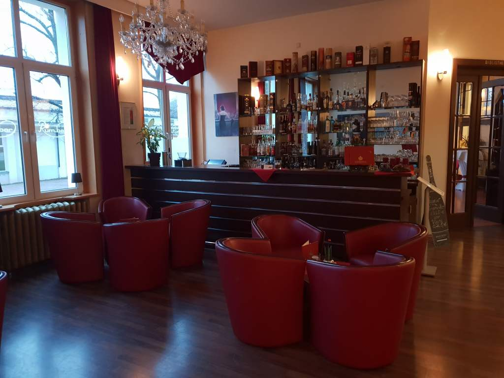 """Empfang im Hotel """"Kaiserhof"""" in Bad Liebenstein, Thüringen."""
