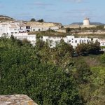 Blick auf Vejer de la Frontera in Andalusien, Spanien