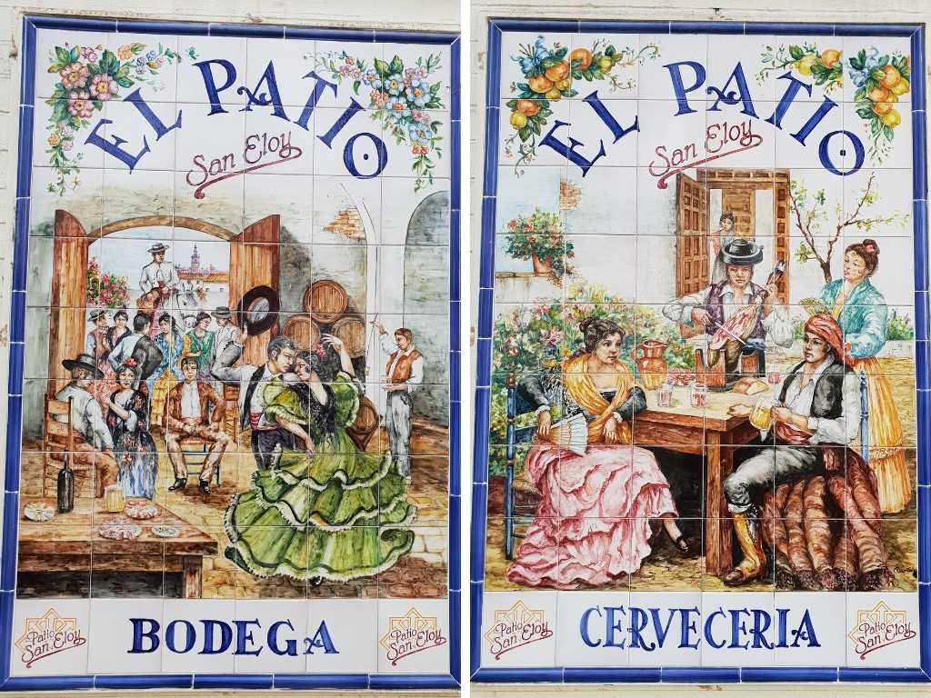 Kachelkunst an der Costa de la Luz in Spanien.