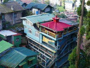 Häuser in Darjeeling in Indien