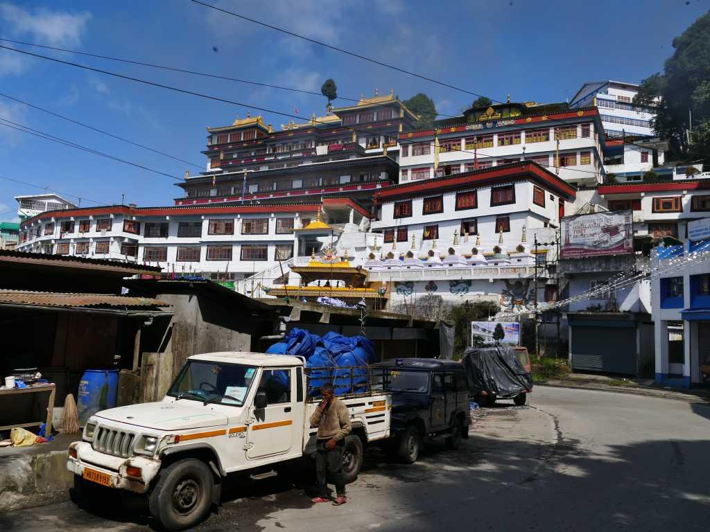 Buddhistischer Tempel in Darjeeling in Indien