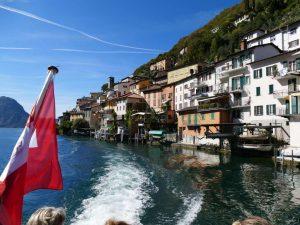 Ort am Luganer See im Tessin, Schweiz.