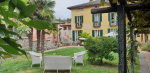 die Villa Carona im gleichnamigen Ort hoch über dem Luganer See im Tessin, Schweiz