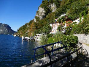 Gandria, eine der schönsten Ortschaften am Luganer See im Tessin, Schweiz.