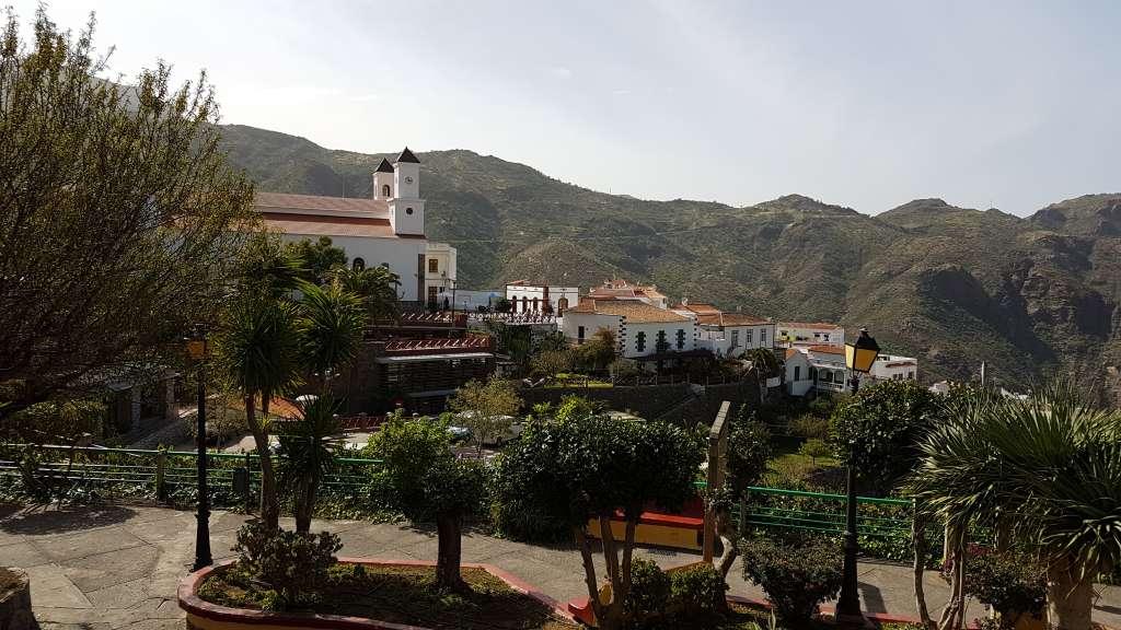 Das Bild zeigt Ortsansicht von Tejeda auf der Kanareninsel Gran Canaria, Spanien
