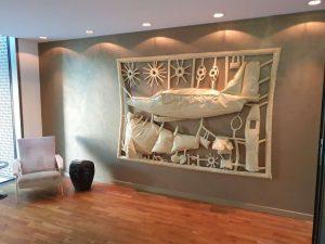 """Kunstinstallation im Hotel """"La Maison"""" im saarländischen Saarlouis."""