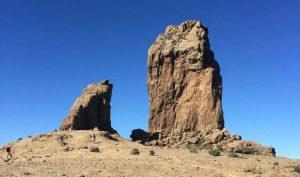 der Roque Nublo, das Wahrzeichen der Kanareninsel Gran Canaria, Spanien
