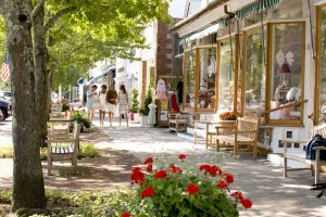 Dorf in den Hamptons auf Long Island vor den Toren New Yorks.