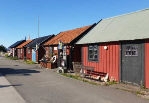 Hafen von Byxelkrok auf der schwedischen Insel Öland.