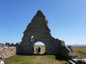Ruine einer Kirche auf der Landzunge von Kapelluden auf der schwedischen Insel Öland