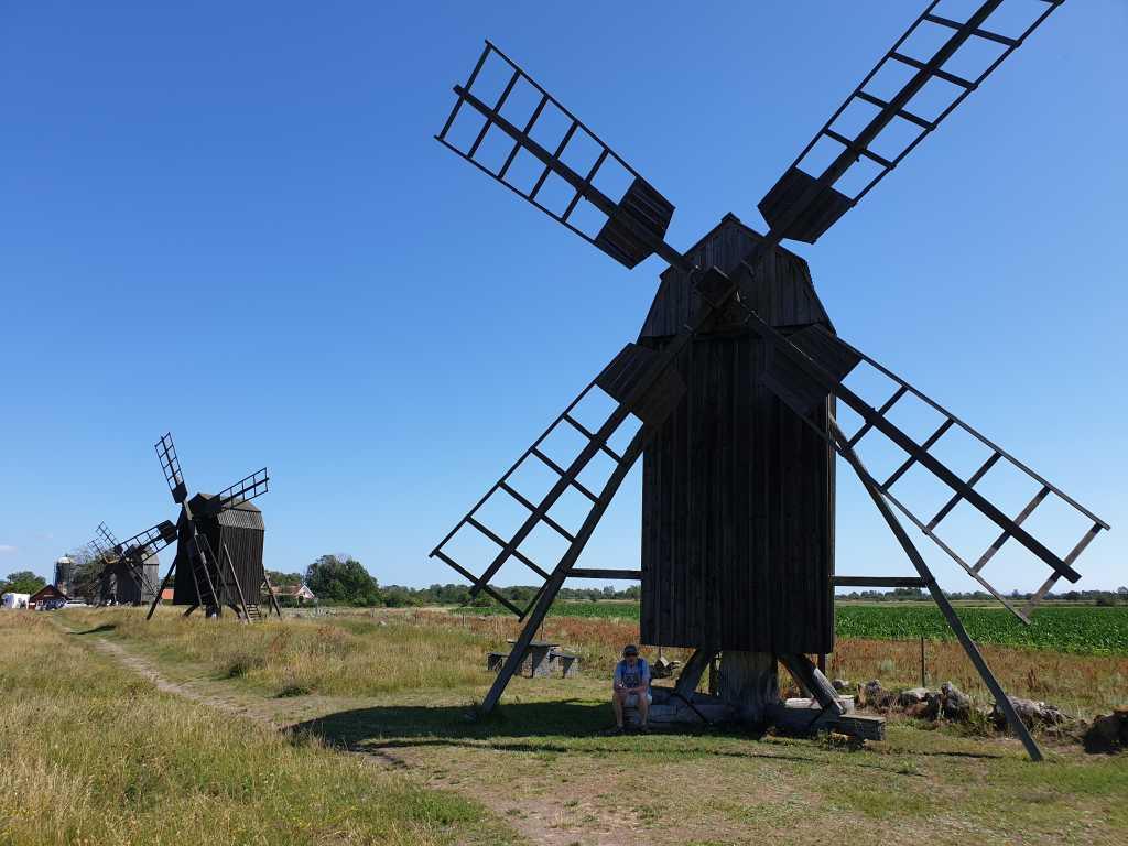 Windmühlen auf der schwedischen Insel Öland