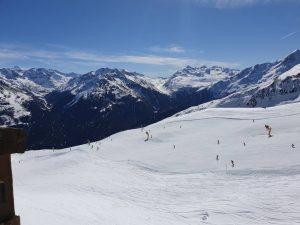 Pisten im Tiroler Wintersportort Sölden