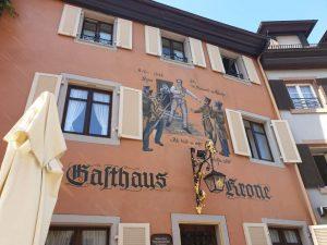 Gasthaus Krone in Staufen, dem mittelalterlichen Städtekleinod im Breisgau.