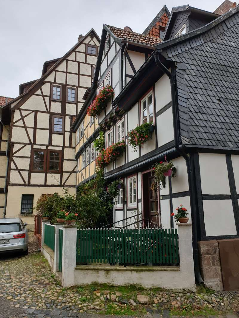 mittelalterliche Gasse in Quedlinburg