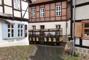 Bimmelbahn zu den Sehenswürdigkeiten Quedlinburgs