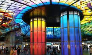 "Fotoparade: U-Bahn-Station ""Formosa Boulevard"" in der Millionenmetropole Kaohsiung"
