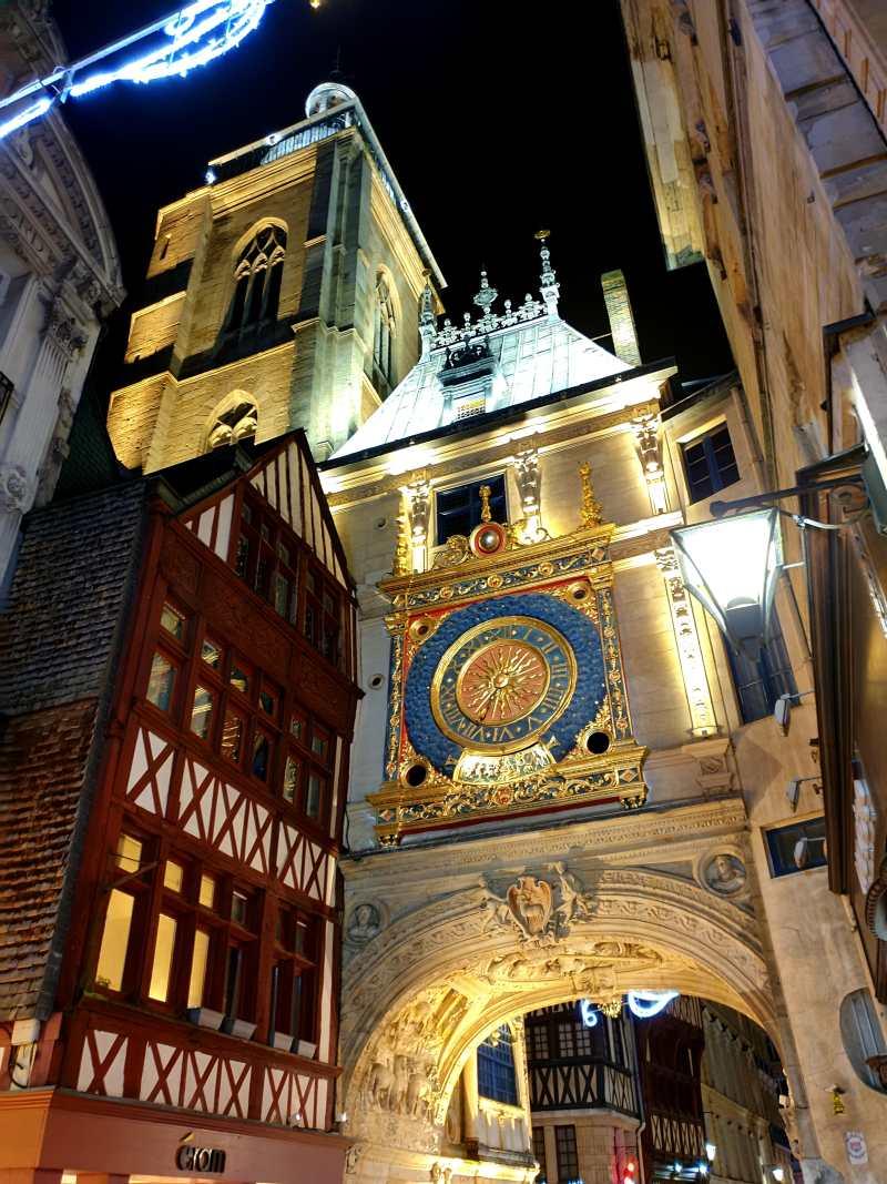 Die Gros-Horloge in Rouen, Frankreich