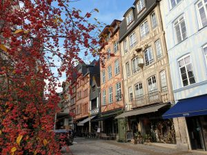 Fachwerkhäuser in Rouen, Frankreich