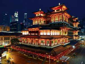 Der in Chinatown gelegene Buddha Tooth Relic Tempel & Museum in Singapur
