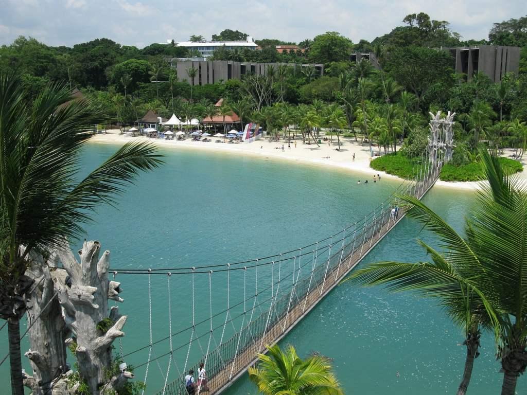 die Insel Sentosa in Singapur