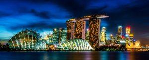 Nachtszene aus Singapur