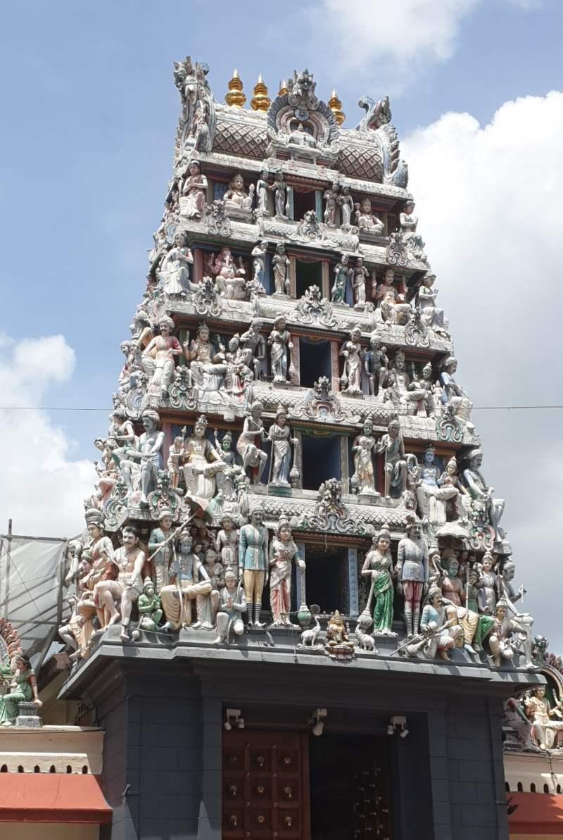 Sri Mariamman Tempels im Stadtvieretl Chinatown in Singapur