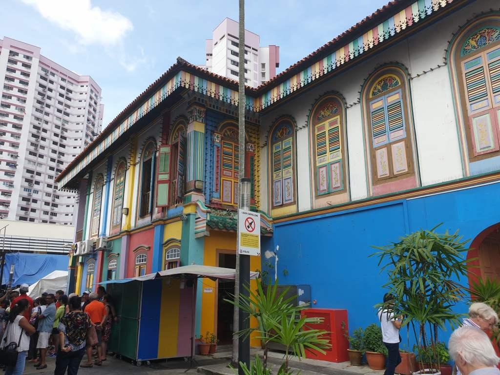 Haus im Stadtviertel Little India in Singapur