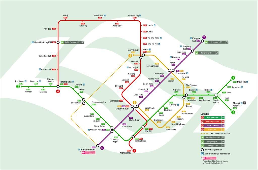 Mit der U-Bahn von Singapur kommt man in fast jeden Winkel der Stadt.