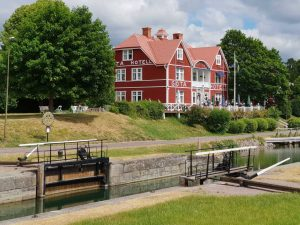 Da will ich bald wieder hin: an den historischen Götakanal. Die Flussschiffe pausierten ebenfalls wegen Corona.