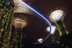 Blick in die Gardens by the Bay, Singapur