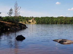 Schwedische Idylle: So einsam geht es an vielen schwedischen Seen zu, selbst in der Hauptsaison.