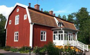 Das Elternhaus von Astrid Lindgren in Vimmerby in Smaland in Schweden ist heute ein Museum.