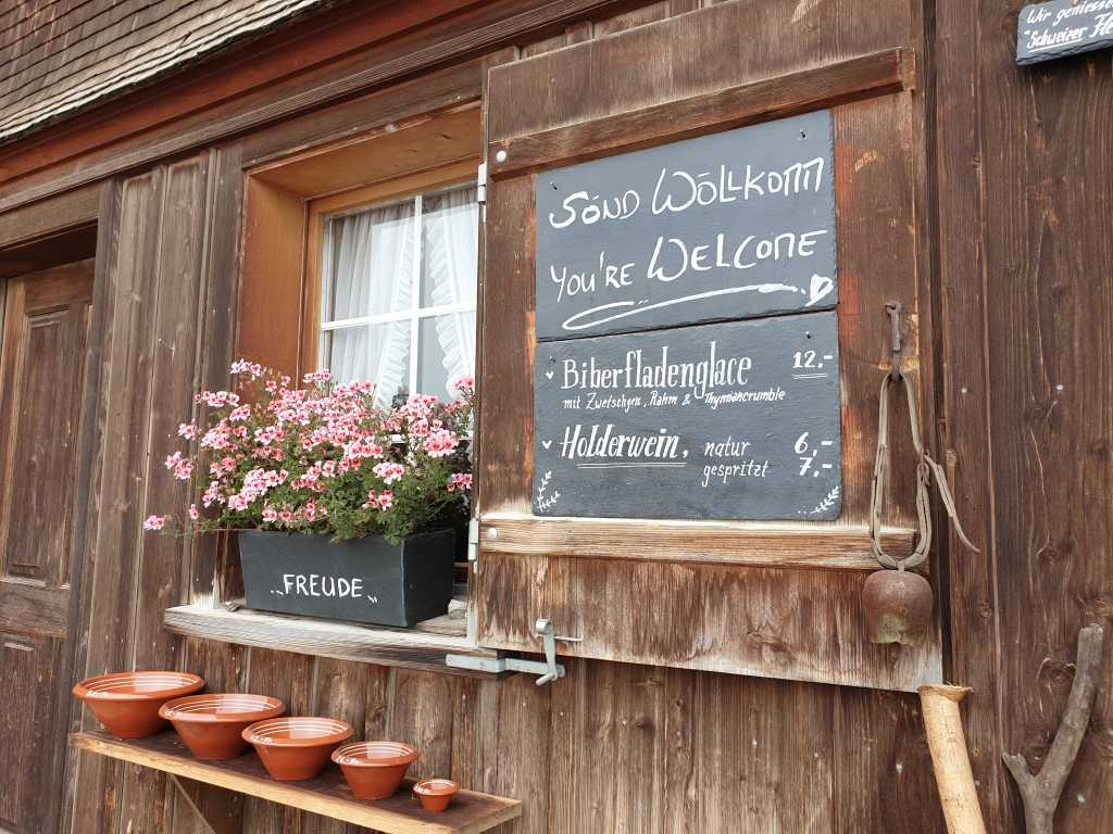 Das Gasthaus Aescher im Appenzellerland, Schweiz.