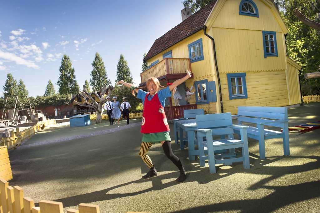 In Astrid Lindgrens Welt in Vimmerby trifft man auf Pippi und andere Romanfiguren.