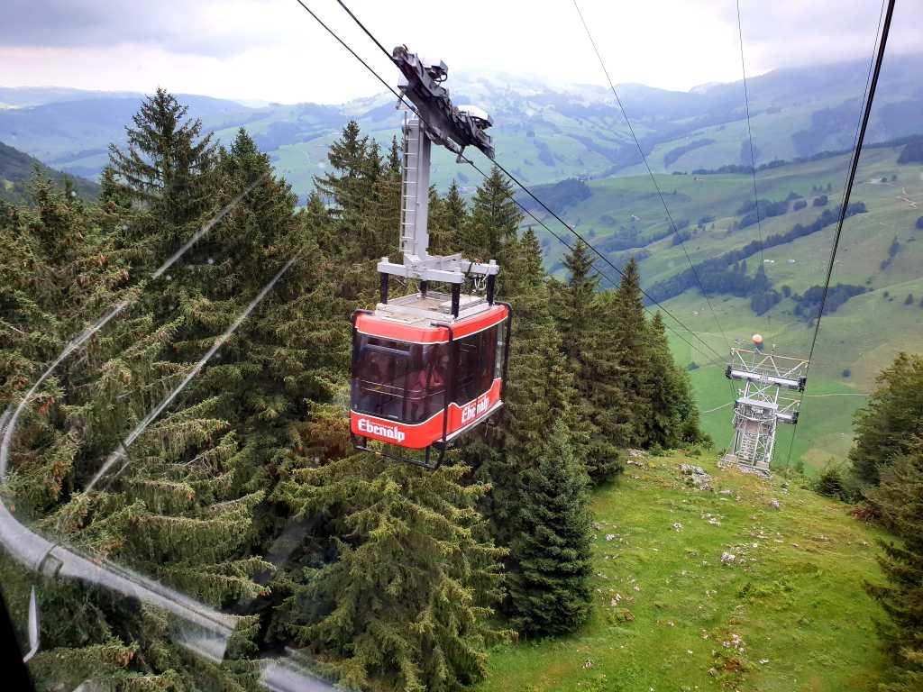 die Ebenalpbahn im Appenzellerland, Schweiz.l