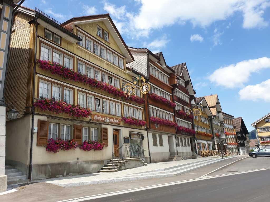 Die Gemeinde Urnäsch im Appenzellerland, Schweiz