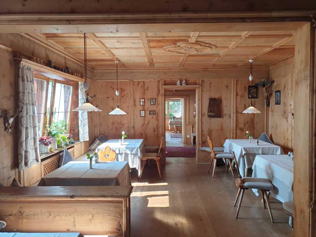 Speisesaal im Hotel Hohenwart in Schenna