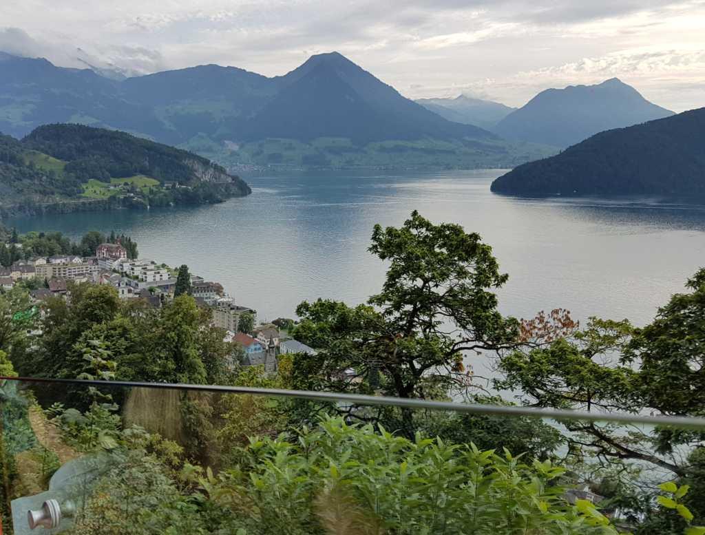 Die Bergstation der Rigibahn unweit von Luzern