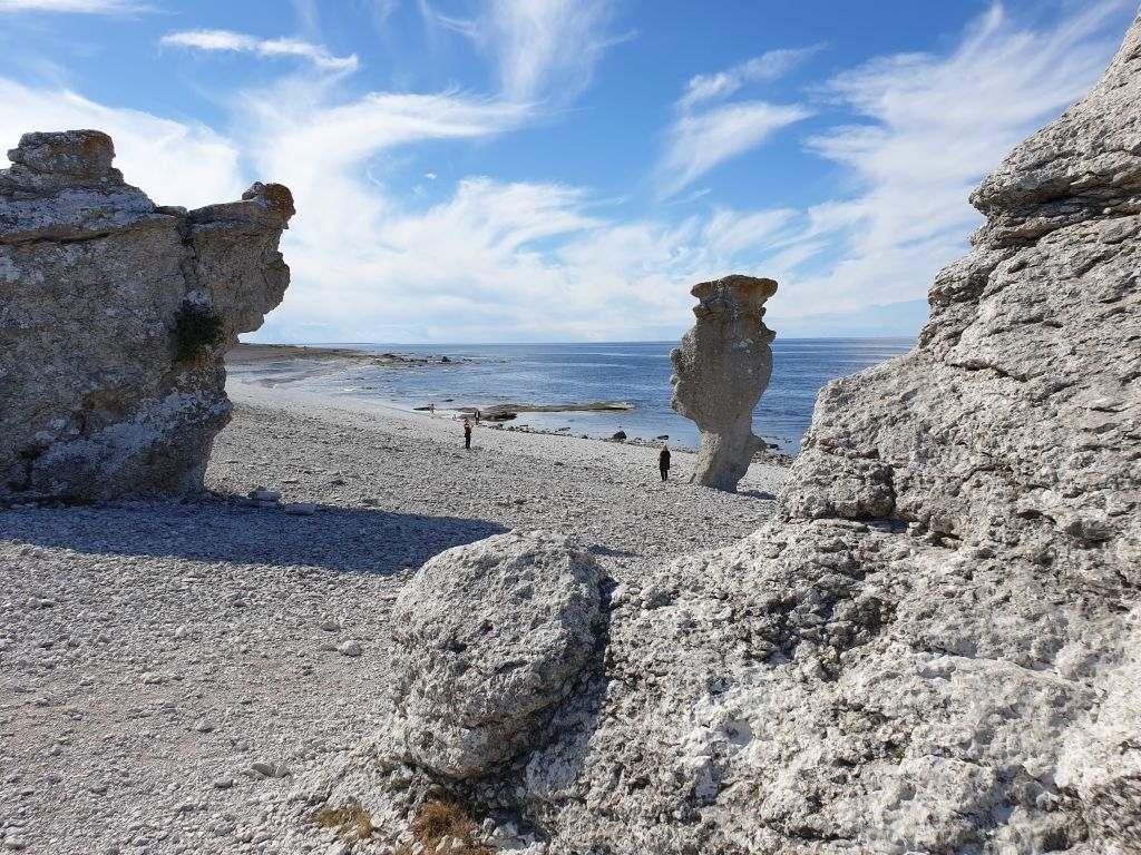 die Raukar an der Nordspitze des Inselzwergs Fårö